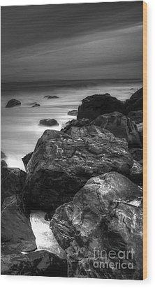 Jersey Shore At Night Wood Print by Paul Ward