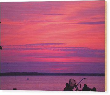 Wood Print featuring the photograph Jersey Sunset by Susan Carella