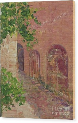 Jerusalem Alleyway Wood Print