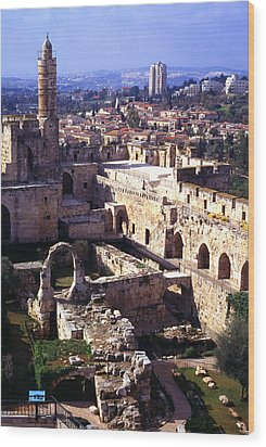 Jerusalem From The Tower Of David Museum Wood Print by Thomas R Fletcher