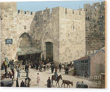 Jerusalem: Jaffa Gate Wood Print by Granger