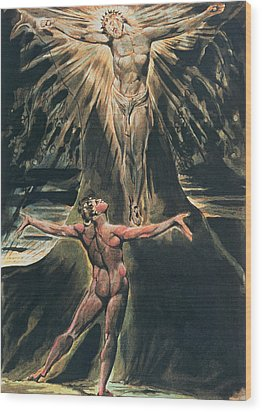 Jerusalem The Emanation Of The Giant Albion Wood Print by William Blake