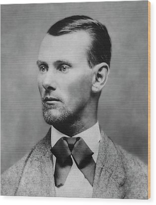 Jesse James -- American Outlaw Wood Print by Daniel Hagerman
