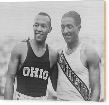 Jesse Owens 1913-1980 With Ralph Wood Print by Everett