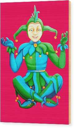 Jester Wood Print by Barbara Stirrup