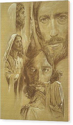 Jesus Wood Print by Bryan Dechter