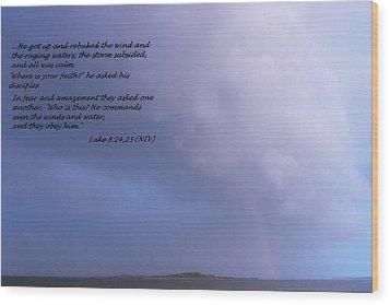 Jesus Calms The Storm Wood Print by Sheri McLeroy