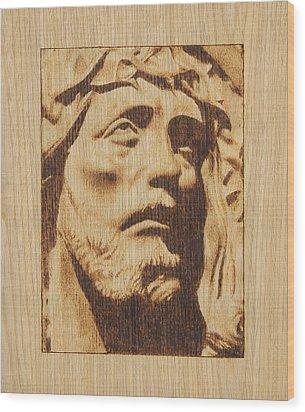 Jesus Christ Wood Print by Conrad  Pinto