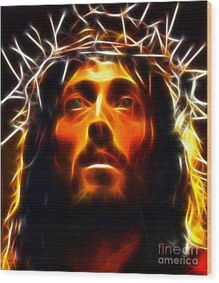 Jesus Christ The Savior Wood Print by Pamela Johnson