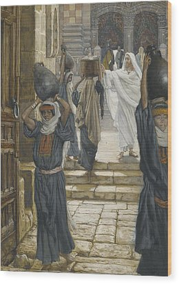 Jesus Forbids The Carrying Of Loads In The Forecourt Of The Temple Wood Print by Tissot
