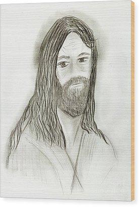 Jesus I Wood Print by Sonya Chalmers