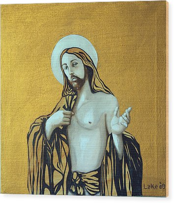 Jesus Icon Wood Print by Matthew Lake