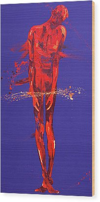 Jesus Is Condemned  Station 1 Wood Print by Penny Warden