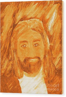 Jesus Is The Christ The Holy Messiah 3 Wood Print by Richard W Linford