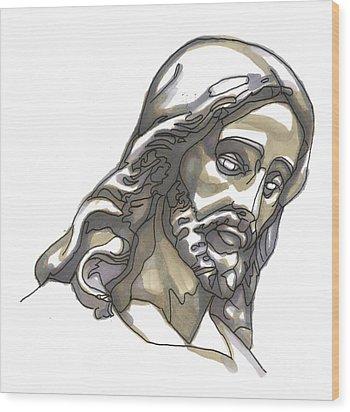 Jesus No 1 Wood Print by Edward Ruth