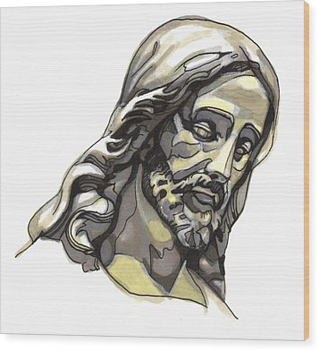 Jesus No 2 Wood Print by Edward Ruth