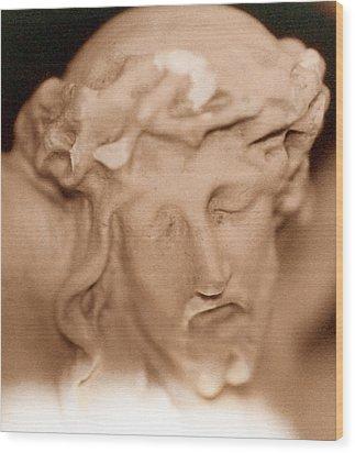 Jesus Wood Print by Paul  Trunk