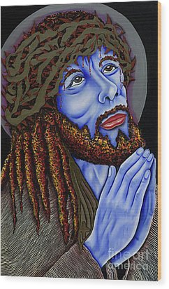 Jesus Peace Wood Print by Nannette Harris