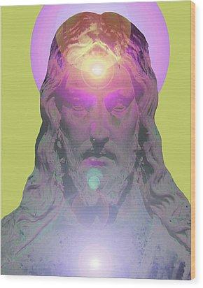Jesus Portrait No. 03 Wood Print by Ramon Labusch