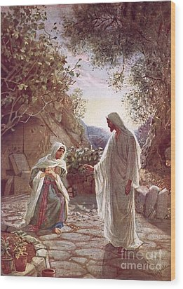 Jesus Revealing Himself To Mary Magdalene Wood Print by William Brassey Hole