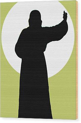 Jesus Shape No. 02 Wood Print by Ramon Labusch