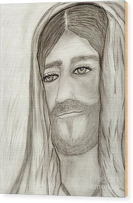 Jesus Wood Print by Sonya Chalmers