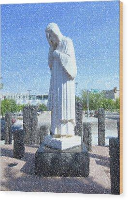 Jesus Wept 3 Wood Print by Betty LaRue