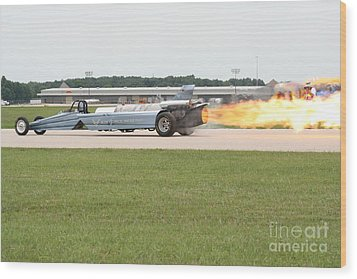 Jet Powered Funny Car Wood Print by Eric Irion