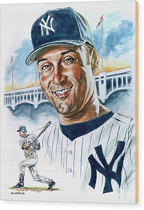 Jeter Wood Print by Tom Hedderich