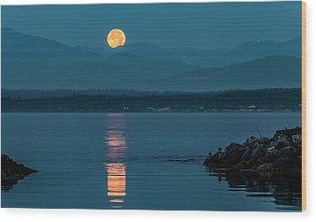Jetty Moonbeam Wood Print