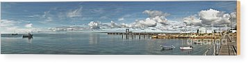 Wood Print featuring the photograph Jetty To Shore by Stephen Mitchell