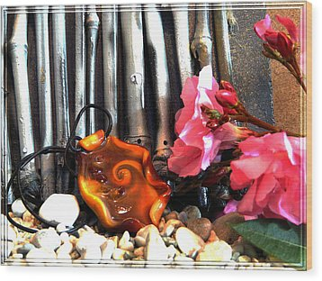 Jewel In Nature Wood Print by Chara Giakoumaki