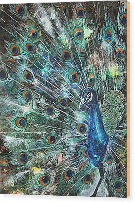 Jeweled Wood Print by Patricia Allingham Carlson