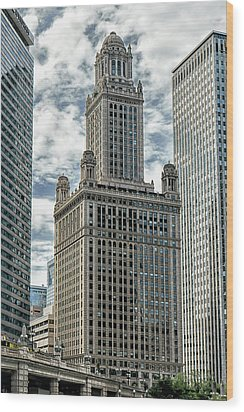Jewelers Building Chicago Wood Print by Alan Toepfer