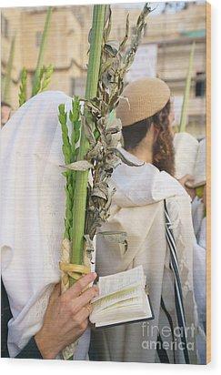 Jewish Sunrise Prayers At The Western Wall, Israel 11 Wood Print