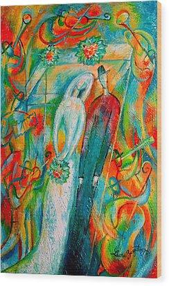Jewish Wedding Wood Print