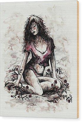 Jezebel Wood Print by Rachel Christine Nowicki