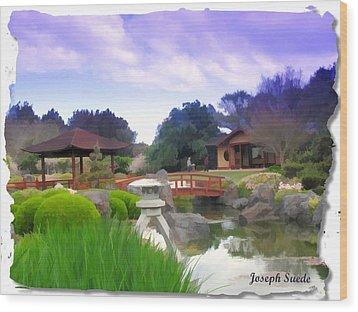 Wood Print featuring the photograph Jg-0021 Kotaji Lantern by Digital Oil