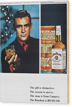 Jim Beam Ad, 1966 Wood Print by Granger