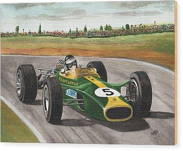Jim Clark Natural Born Racer Wood Print