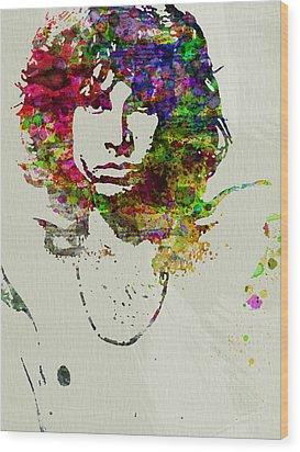Jim Morrison Wood Print by Naxart Studio