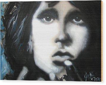 Jim Morrison Ravens Claws   Wood Print by Jon Baldwin  Art
