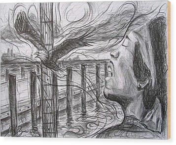 Jimi At High Street Landing Wood Print by Michael Morgan