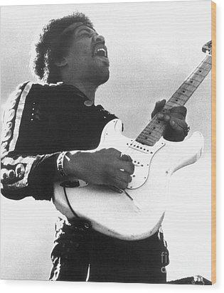 Jimi Hendrix (1942-1970) Wood Print by Granger