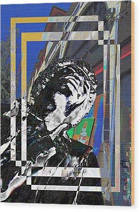 Jimi Hendrix 3 Wood Print by Tim Allen