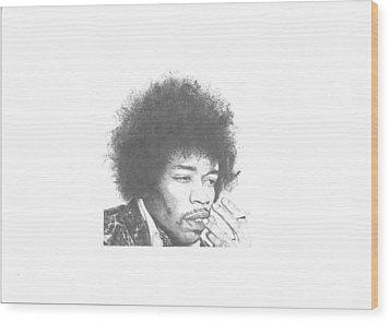 Jimi Hendrix Wood Print by Dan Lamperd