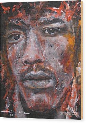 Jimi Hendrix Manic Depression Wood Print by Eric Dee