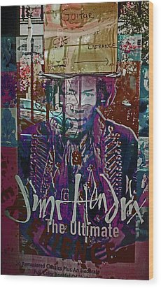 Wood Print featuring the photograph Jimi Hendrix - Ultimate Legend by Walter Fahmy