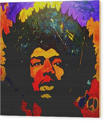 Jimi The Man Wood Print