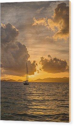 Jimmy Buffet Sunrise Wood Print